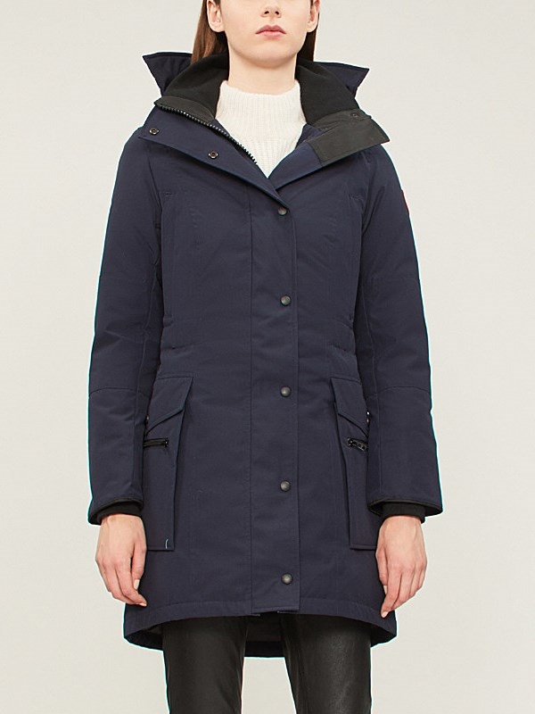 CANADA GOOSE Kinley twill padded parka coat – Doudoune Femme – Admiral blue